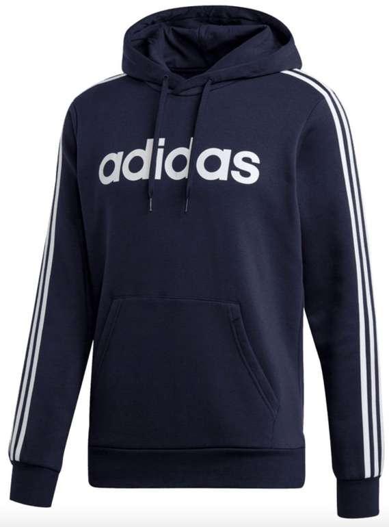 Adidas Kapuzenpullover Essential 3S Fleece in dunkelblau/weiß für 27,47€ (statt 36€)
