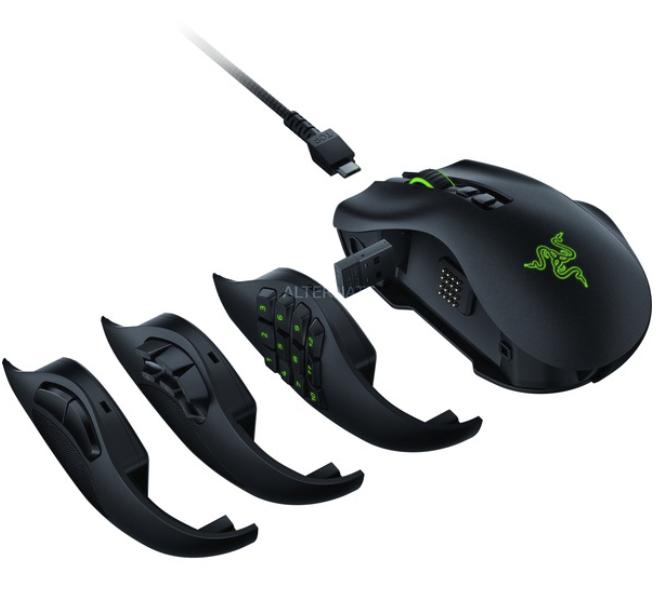 Razer Naga Pro Gaming-Maus in Schwarz (Austauschbare Seitenteile, 20.000 DPI, Kabellos) für 119,99€inkl. Versand