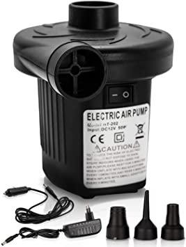 Vingo Elektrische Luftpumpe (3 Luftdüsen, Inflate & Deflate) für 11,19€ inkl. Versand (statt 16€)