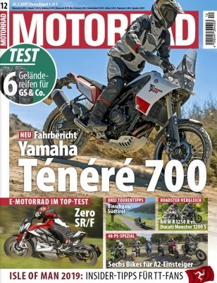 """7 Ausgaben der Zeitschrift """"Motorrad"""" für 31,85€ + 31,85€ Verrechnungsscheck"""