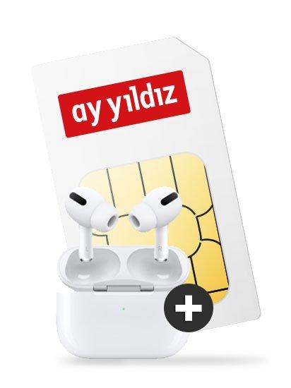 Apple AirPods Pro + Ay Yildiz Ay 4,5 GB LTE Allnet Flat für 14,99€ mtl.