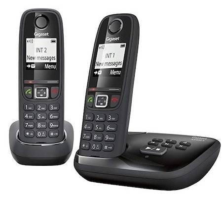 Gigaset AS405A Duo Schnurlostelefon mit Anrufbeantworter für 25€ (statt 60€)