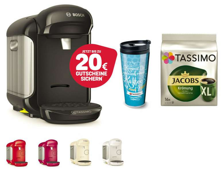 Bosch Tassimo Vivy 2 TAS1402 Kapselmaschine +  Thermobecher to go für 29,99€ (statt 34€)