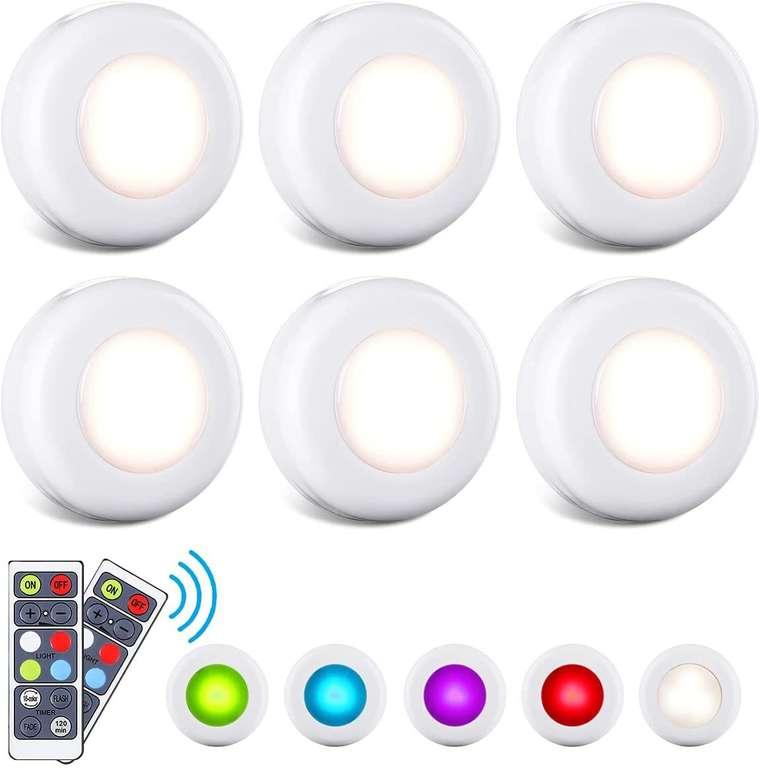 Efelandhome 6er Pack LED Schranklichter mit Fernbedienung für 12,99€ inkl. Prime Versand (statt 20€)