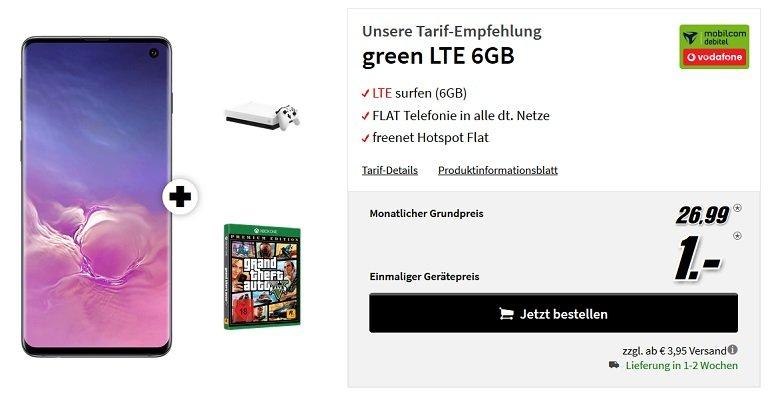 Samsung Galaxy S10 Vodafone Allnet-Flat 6GB LTE
