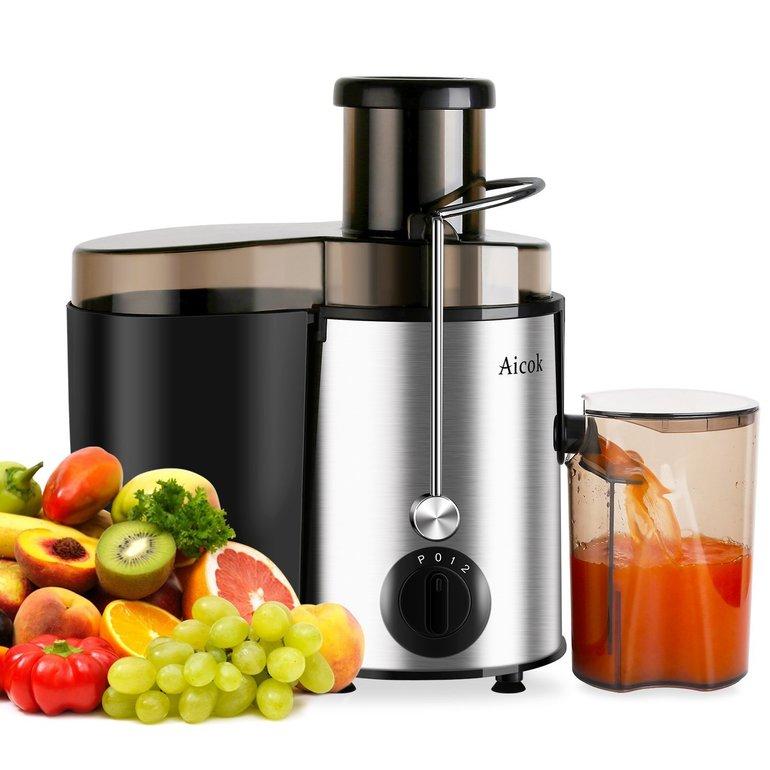 Aicok Entsafter für Obst und Gemüse (mit Saftbehälter) je 27,99€