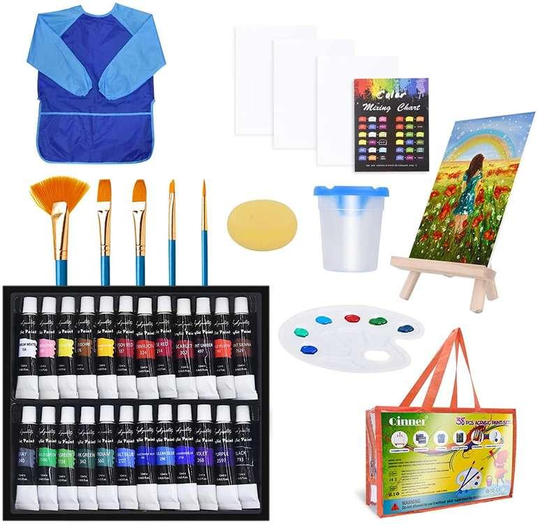 Auchy Kinder Acrylfarben Set für 12,99€ inkl. Prime Versand (statt 26€)