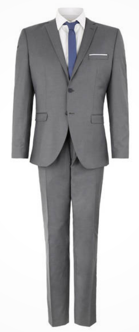 Selected Business-Anzug, Slim Fit, meliert für 72€ inkl. Versand