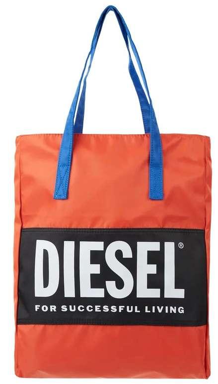 Diesel Bbag-Tote Strandtasche mit Logo-Print in Orange für 27,99€ inkl. Versand (statt 50€)