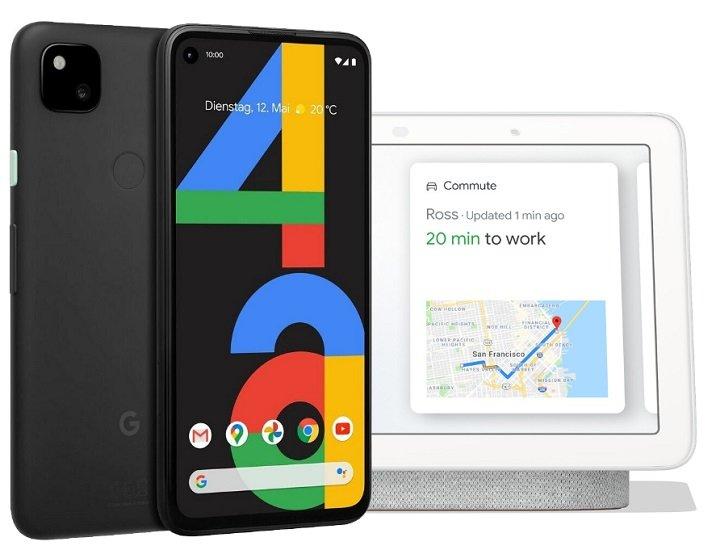 Google Pixel 4a (29,99€) + Google Nest Hub Kreide (gratis) + Klarmobil Allnet Flat 5 GB für 17,99€ mtl.