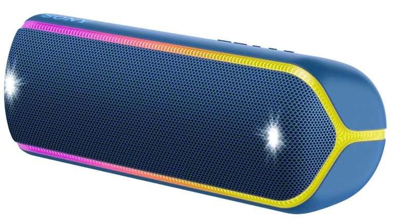 Sony SRS-XB32 Bluetooth Lautsprecher (Wasserfest, NFC, farbige Lichtleiste) für 79€ inkl. Versand