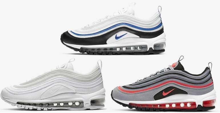 Nike Air Max 97 (GS) Sneaker in drei Farbe für je 97,99€inkl. Versand (statt 140€) - Member! GR: 35-40