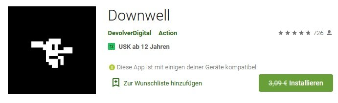 Downwell Android kostenlos
