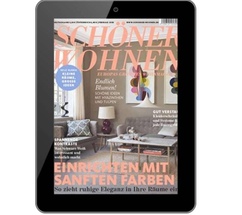 Schöner Wohnen E-Paper Jahresabo für 41,04€ + Verrechnungsscheck über 41,04€