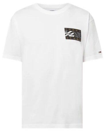 Tommy Jeans T-Shirt mit Logo-Print in Weiß (1233095) für 19,99€ inkl. Versand (statt 30€)