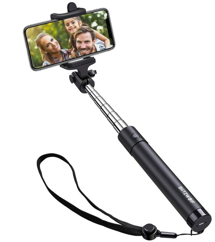 BlitzWolf Selfie Stick (80cm) mit Bluetooth-Fernauslöser für 7,49€ inkl. Versand