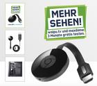 Chromecast 2 + 3 Monate Waipu.tv Perfect + 3 Monate Maxdome für 34,99€