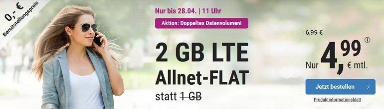 o2 Simply AllNet Flat mit 2GB LTE