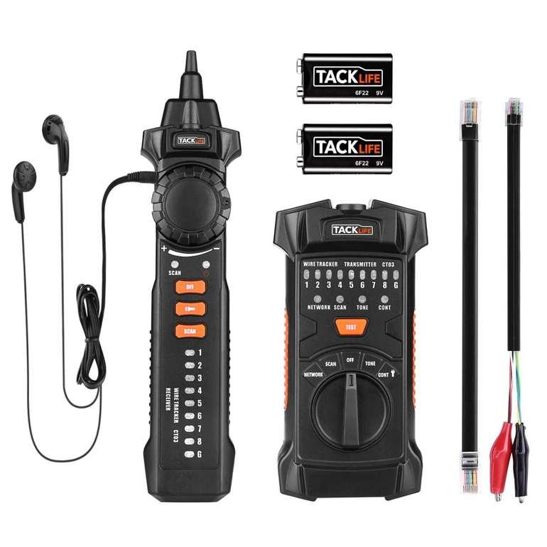 Tacklife CT03 - RJ11 & RJ45 Leitungssucher mit NCV-Sonde für 20,39€ inkl. Prime Versand