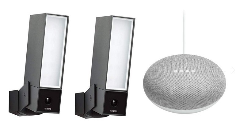 Doppelpack Netatmo Presence Outdoor-Sicherheitskameras für 479,95€ inkl. VSK (statt 554€) + Google Home Mini