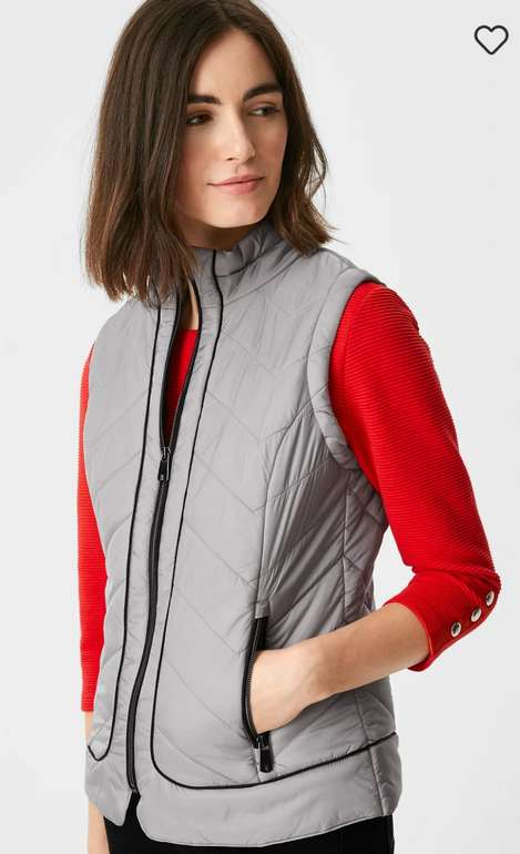 C&A Damen Steppweste in grau für 17,24€ inkl. Versand (statt 30€)