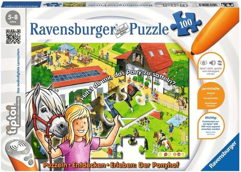 Ravensburger tiptoi - Puzzlen, Entdecken, Erleben - Der Ponyhof (100 Teile) ab 7,99€ (statt 17€)