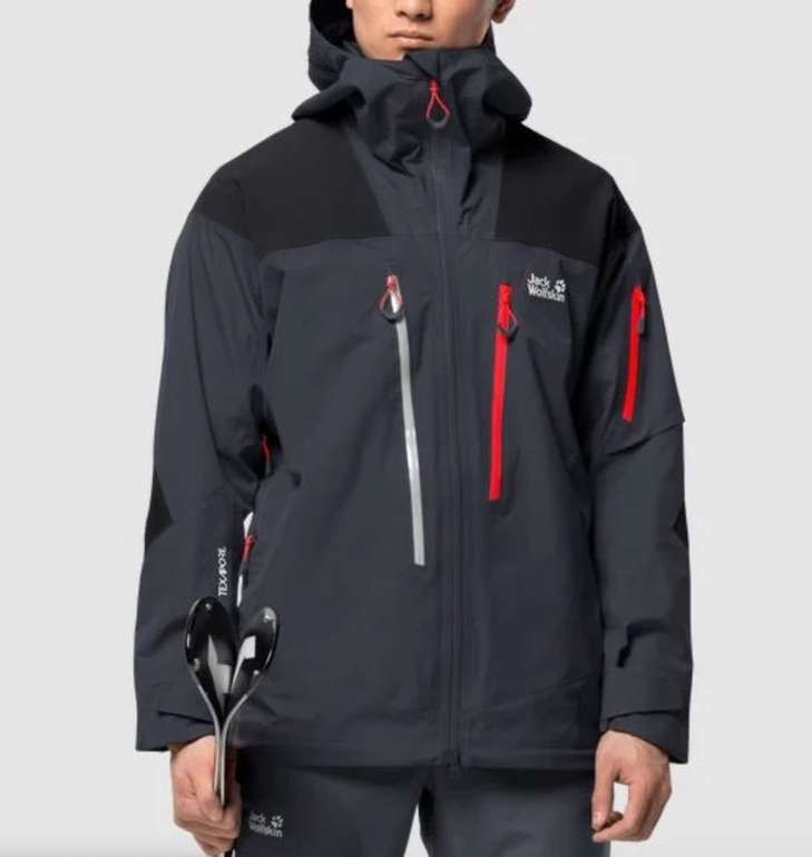 Jack Wolfskin Solitude Mountain Jacket M Hardshell Herren Skijacke für 275,94€ inkl. Versand (statt 351€)