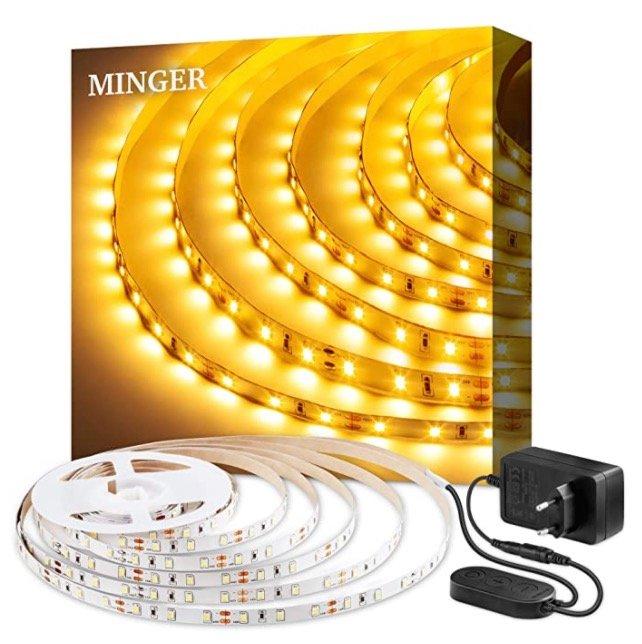 5m Minger 3000K LED Strip mit 300 LEDs (dimmbar) für 7,79€ inkl. Prime Versand (statt 13€)
