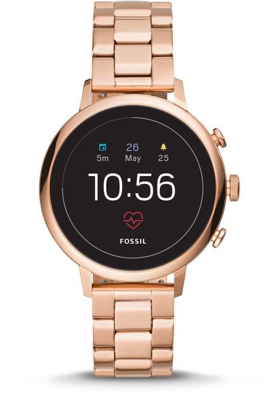 Fossil FTW6018 Damen Smartwatch Venture HR Edelstahl (4. Generation) in Roségold für 139,50€