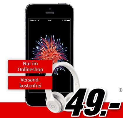 iPhone SE + Beats Solo 2 + Vodafone Smart Surf (50 Min./SMS, 2GB) 16,99€ mtl.