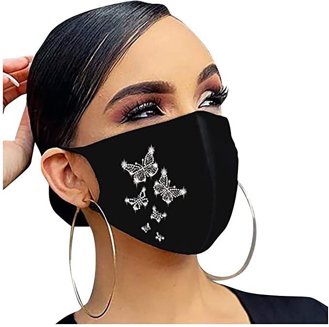 Eaylis Mund-Nase-Maske mit Strass (1 oder 5 Stück, verschiedene Motive) ab 2,70€ inkl. Versand (statt 9€)