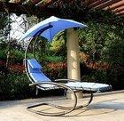 iKayaa Rocking Outdoor Patio Chaise Sonnenliege für 47,27€ inkl. Versand
