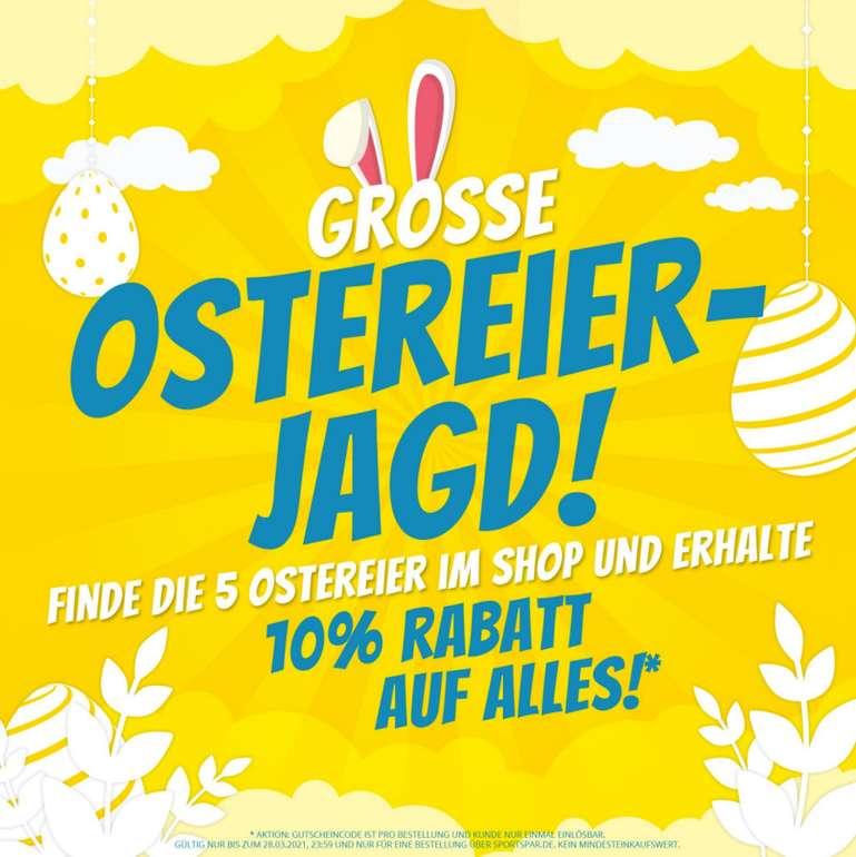Große Ostereier-Jagd bei SportSpar - 5 Eier finden und 10% Rabatt Gutschein auf Alles bekommen!