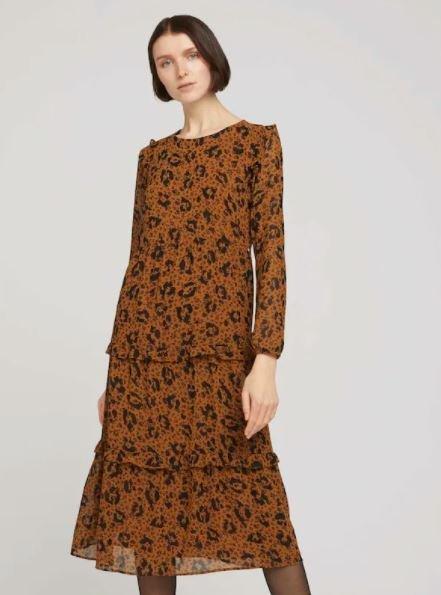 Tom Tailor Denim Kleid in braun/schwarz für 19,53€ inkl. Versand (statt 35€)