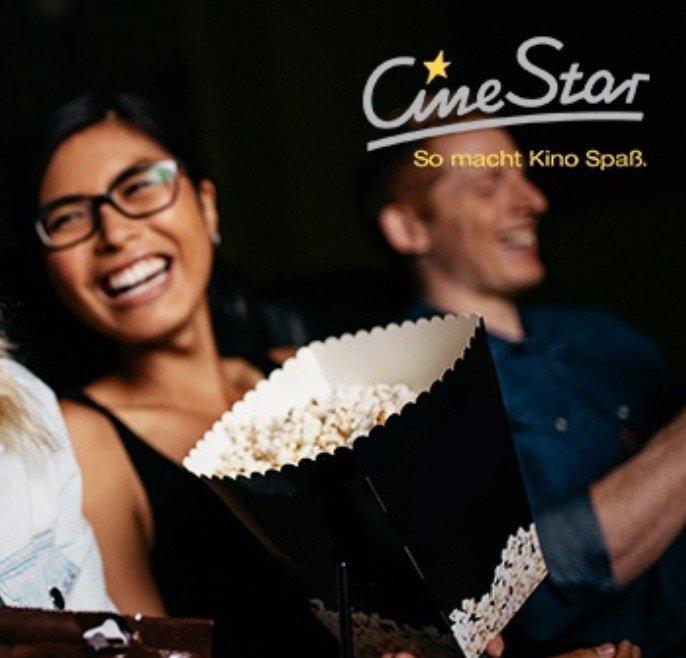 5 CineStar Gutscheine für  2D-Filme inkl. Sitzplatz- und Filmzuschlag für nur 27,50€