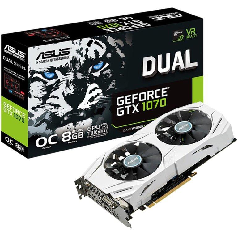 Asus GeForce GTX 1070 Dual OC Grafikkarte für 279€ inkl. Versand (statt 353€)