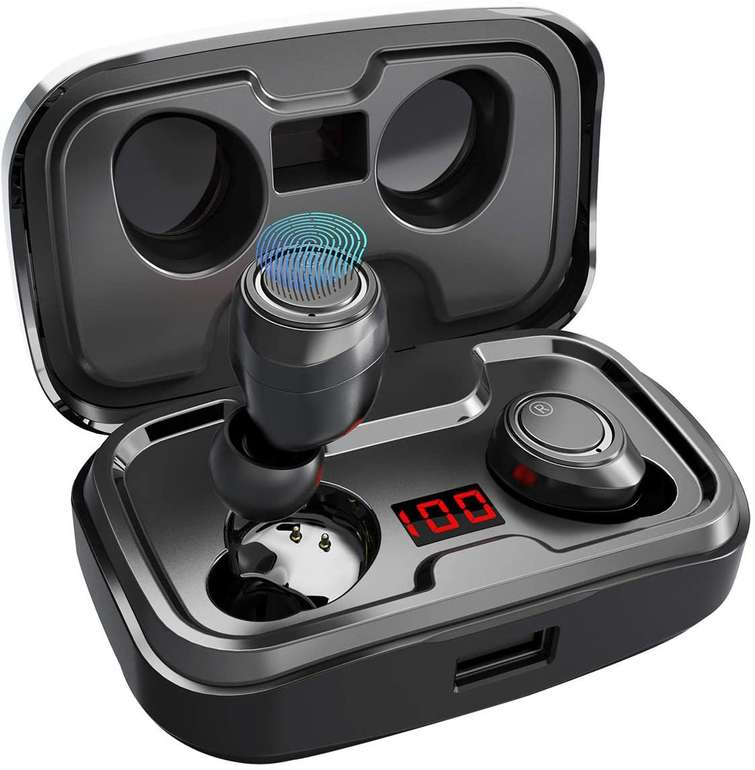 Antimi Bluetooth Kopfhörer mit Ladecase für 19,54€ inkl. Prime Versand (statt 25€)