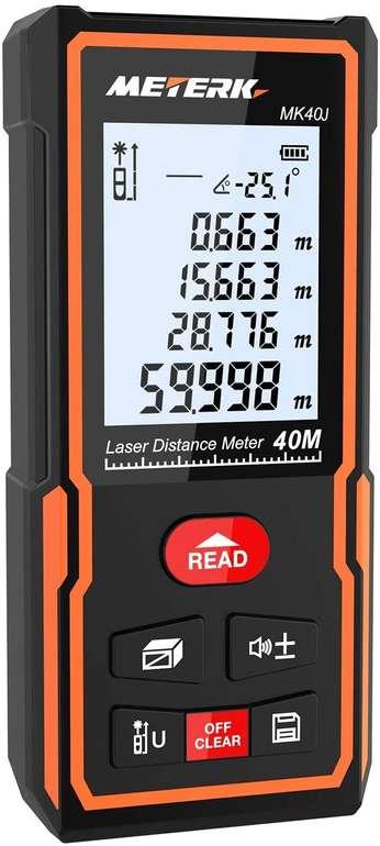 Meterk Laser Entfernungsmesser (40 oder 60m) ab 14,99€ inkl. Prime Versand