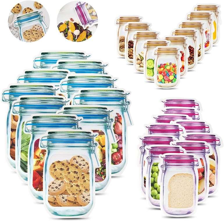 Jiprens 30er Pack Mason Jar Zip Beutel für 8,24€ inkl. Prime Versand (statt 11€)