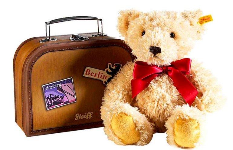 Steiff Kuscheltier: Der Kofferbär schon für 22,39€ (statt 32€)