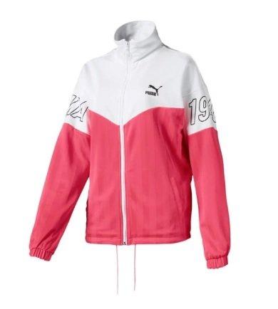 Puma Trainingsjacke 'luXTG Jacquard' in pink / weiß für 31,45€ inkl. Versand (statt 42€)
