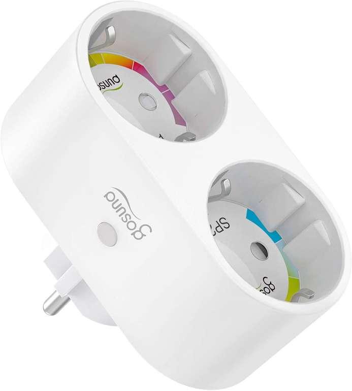 Gosund smarte WLAN Doppelsteckdose (Alexa & Google Home kompatibel) für 14,24€ inkl. Prime Versand (statt 19€)