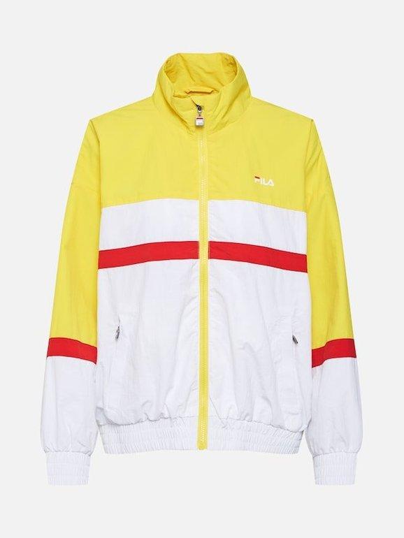 Fila Jacke 'Kaya Wind Jacket' in gelb/rot/weiß für 53,91€ inkl. VSK