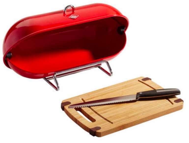 """Wesco Brotbox """"Breadboy"""" mit Schneidebrett und Brotmesser für 33,94€ (statt 47€)"""