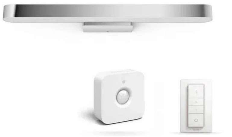 Philips Hue White Ambiance Adore Badleuchte (BT) + Bewegungsmelder + Dimmschalter für 139,90€ (statt 178€)