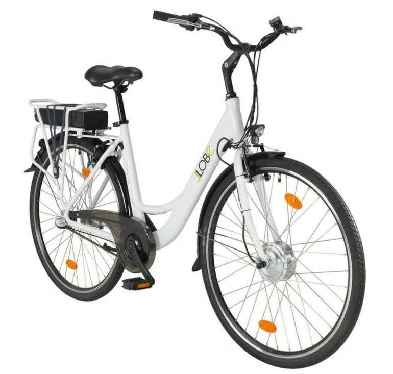 """LLOBE - 28"""" Damen E-Bike City """"Blanche deux"""" 3G mit Gepäckträger für 679,99€ (statt 803€)"""