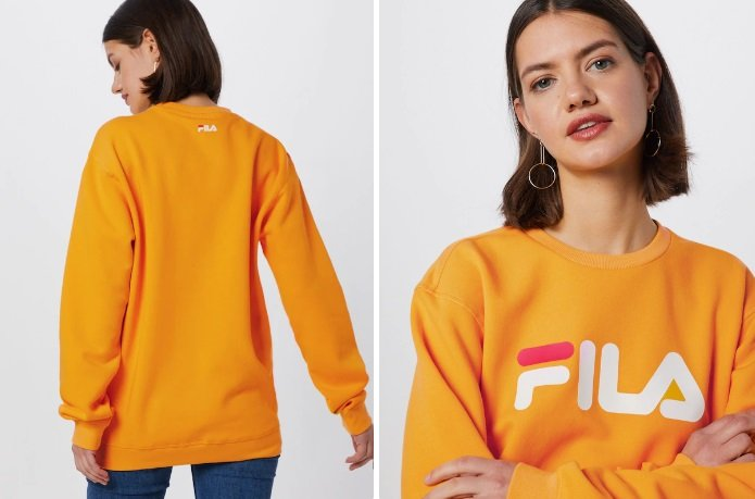 FILA Damen Sweatshirt 'Pure' in Gelb 2