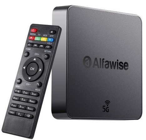 Alfawise A8 Pro 4K TV Box (2GB RAM, 16GB ROM & Android 8.1) für 25,38€