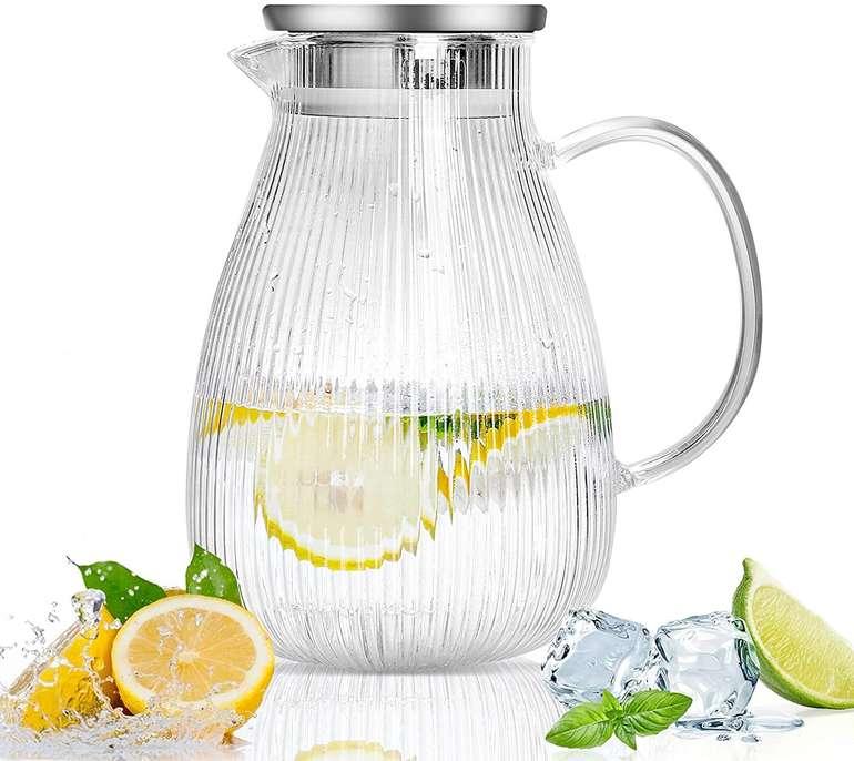 Sawake 2 Liter Glas Karaffe mit Deckel für 18,19€ inkl. Prime Versand (statt 26€)