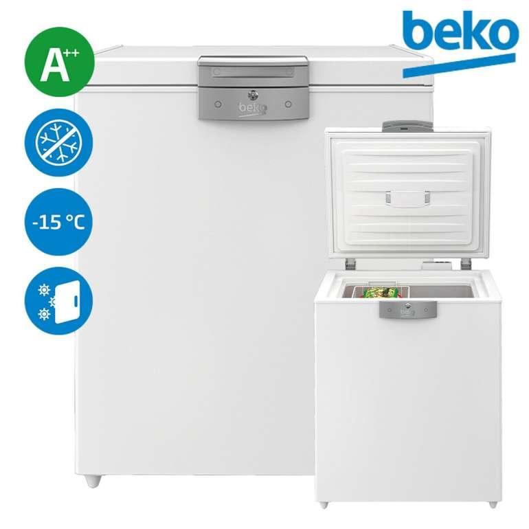 Beko HS14530 Gefriertruhe mit A++ (unbeheizten Räumen nutzbar) für 269,90€
